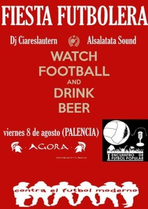watch futbol + drink beer palencia